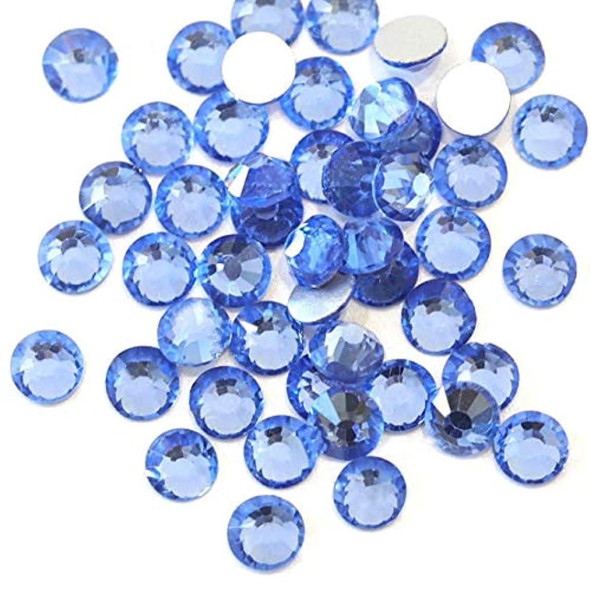 十はっきりしないすぐに【ラインストーン77】高品質ガラス製ラインストーン ライトサファイア(6.3mm (SS30) 約45粒)