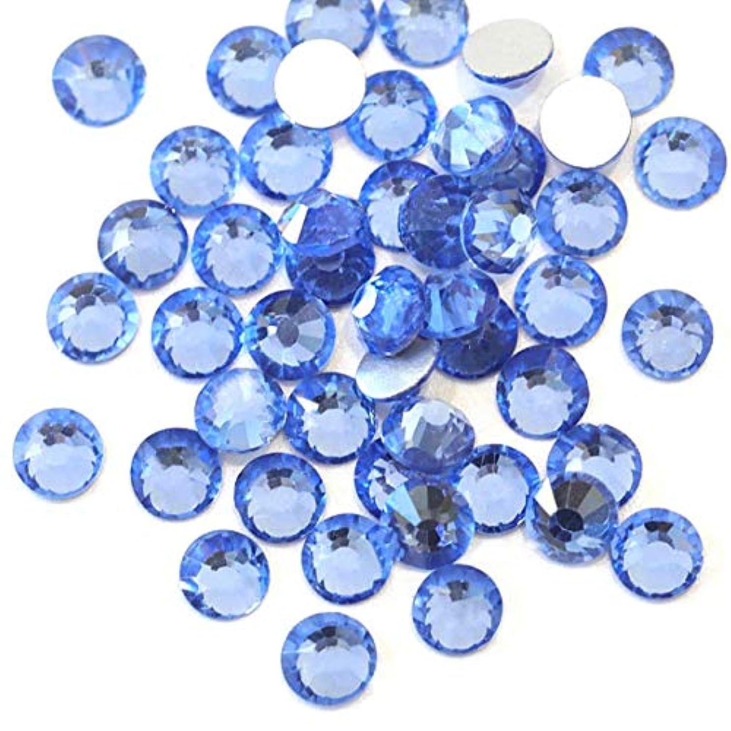 亡命工夫する値する【ラインストーン77】 超高級 ガラス製ラインストーン SS4~SS40 ライトサファイア スワロフスキー同等 (4.7mm (SS20) 約120粒)