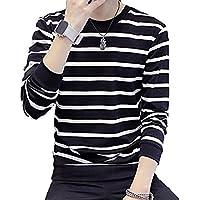 (アーカーワークス) ボーダー柄 長袖 Tシャツ カットソー お洒落 トップス ロンT シンプル デザイン 素材 男女兼用