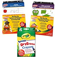 Preschool Prep Wipe Clean LearningアクティビティFlip Books for Ages 2 – 4 W / 8pk Dry Eraseクレヨン – Opposites / Matching