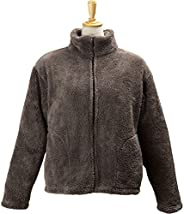 アイリスプラザ マイクロミンクファー 著る毛布 著丈60cm ポケット付 ルームジャケット もこもこ ふわふわな肌觸り 部屋著 エアコン対策 秋冬 靜電気防止 洗える 無地 ブラウン
