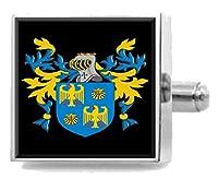 (セレクトギフト) Select Gifts キンケイド スコットランド 紋章 スターリングシルバー カフスボタン 刻印メッセージボックス