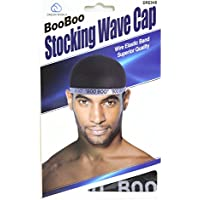 Dream, Boo Boo STOCKING WAVE CAP, Wire Eastic Band (Item #045 Black)