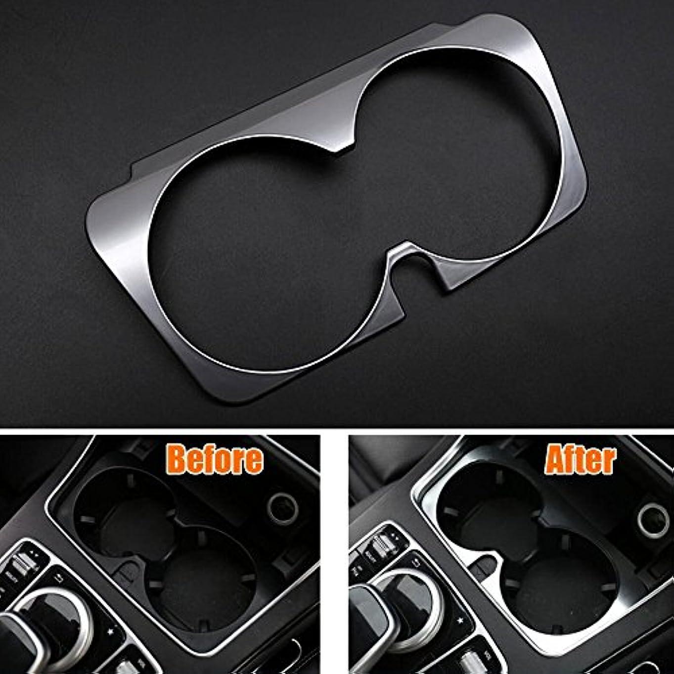 限りカーテン小包Jicorzo - Console Water Cup Holder Cover Trim Frame Interior Chrome ABS Car-styling Sticker For Mercedes Benz...