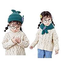 熱狂の夜 子供 帽子マフラー 両用 二つの使い道 キッズ 暖かい 冬 ニット 帽子 可愛い 厚い子供用 ネックウォーマー 防寒 (緑)