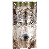 General Wolf Polyester Fabric Bathroom Shower Curtain 3672Inch [並行輸入品]