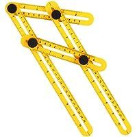 Zigwin 折り畳み 四辺 自由 スコヤ 筋交付き 測定定規 大工道具 ABS製