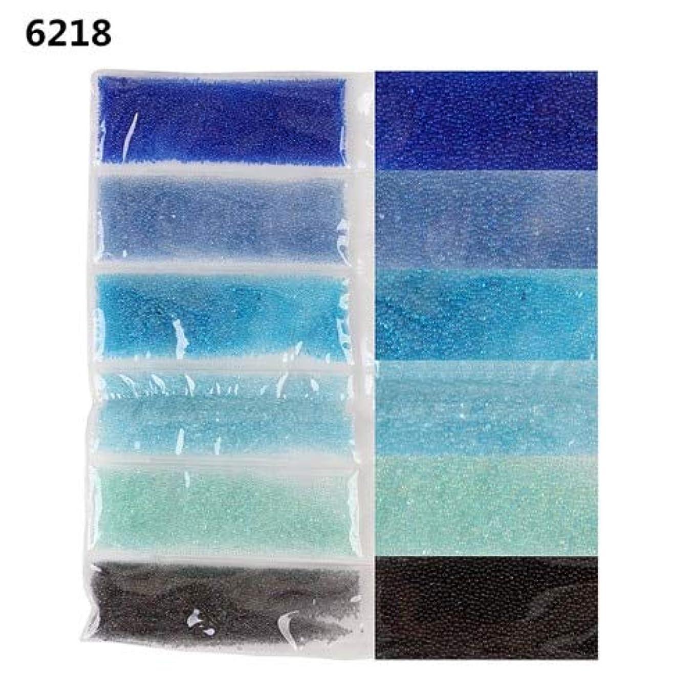 極端な発表する餌1袋6色混合ミニビーズネイルキャビアネイルアートラインストーンネイルクリスタルネイルアートデコレーション3D