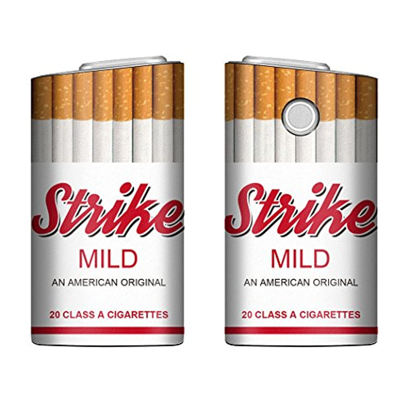 メイエラメイエラ雹Evis Club glo グロー ケース レザー プリント ケース タバコ パロディ 4398 Strike マイルド B 電子タバコ 保護 カバー