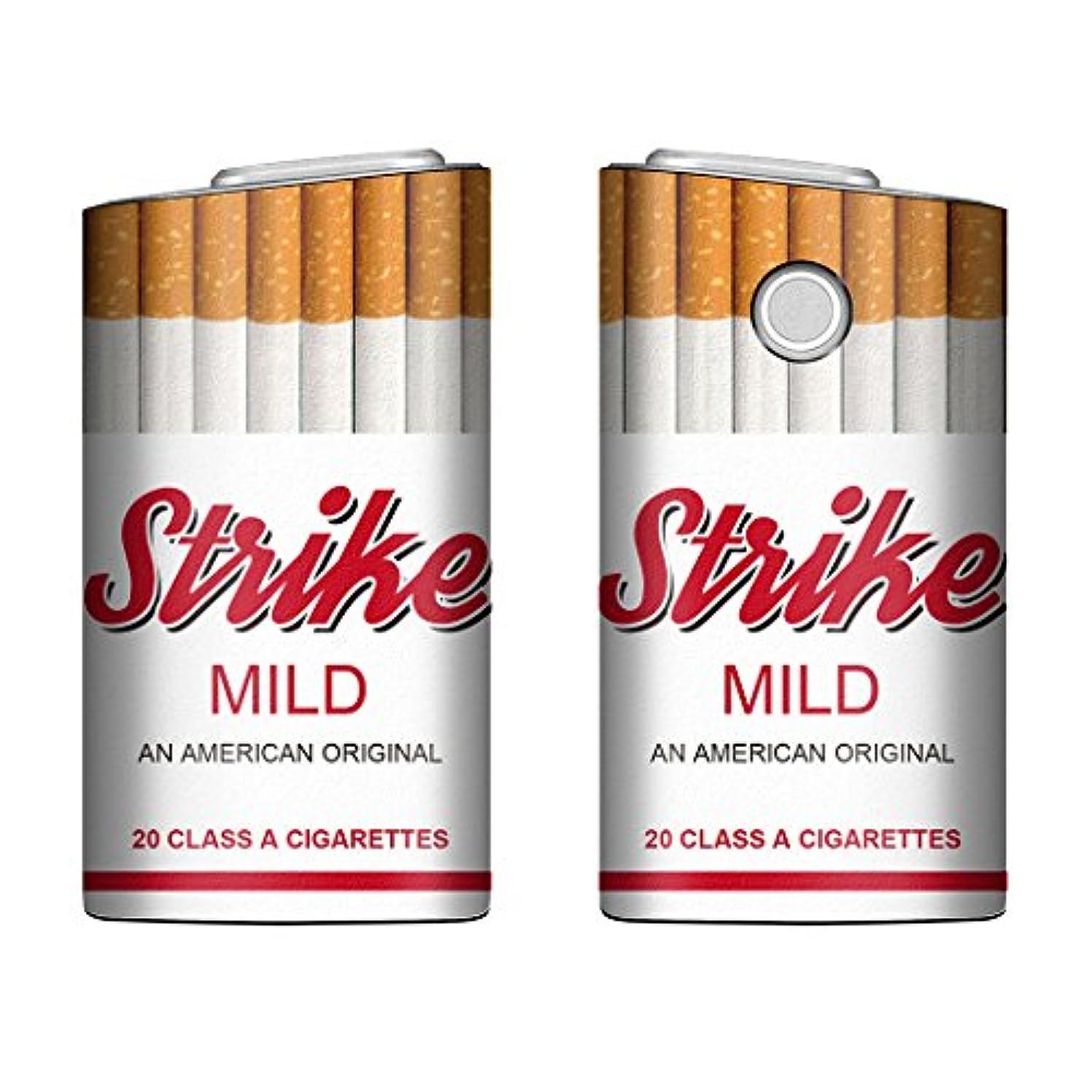 常習者その尊敬するEvis Club glo グロー ケース レザー プリント ケース タバコ パロディ 4398 Strike マイルド B 電子タバコ 保護 カバー