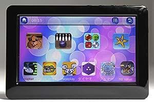 大画面4.3インチ 多機能 MP4プレイヤー 音楽 動画 写真 E-book ゲーム HD 8GB内蔵 ブラック
