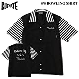 (カットレイト) CUTRATE S/S BOWLING SHIRT シャツ ボウリングシャツ ボーリングシャツ 開襟シャツ 半袖シャツ (M, ブラック)