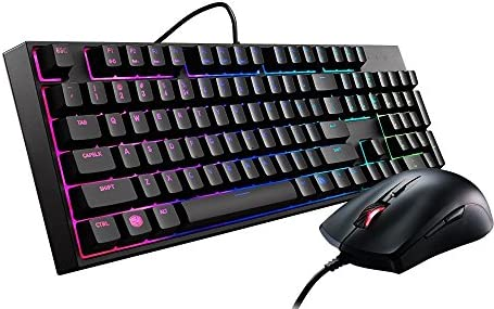 MasterKeys Lite L Combo RGB Keyboard and Mouse, Mem-chanical Switches and Zoned Brilliant RGB lighting [並行輸入品]