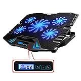 TopMate コンピュータの冷却パッドが12インチから15.6インチのゲーミングノートPC USBファンは5個を持って、2500rpmで、軽量、ウルトラポータブルで、ノートパソコンなどに適する
