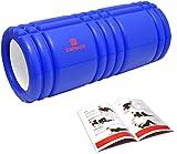 DB Praise グリッドフォームローラー Foam Roller 7色 スポーツ トレーニング ストレッチ 器具 解説書付き (T Blue)