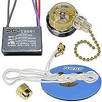 HQRPキット天井ファンコンデンサcbb614uf + 5uf + 6uf 5-wire and 3速ファンスイッチ+ HQRPコースター 887774406051701