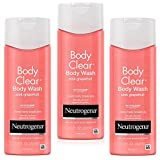 Neutrogena Body Clear Body Scrub Wash, Pink Grapefruit 8.5 Fluid Ounce (Pack of 3)