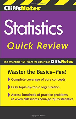 Download CliffsNotes Statistics Quick Review, 2nd Edition 0470902604