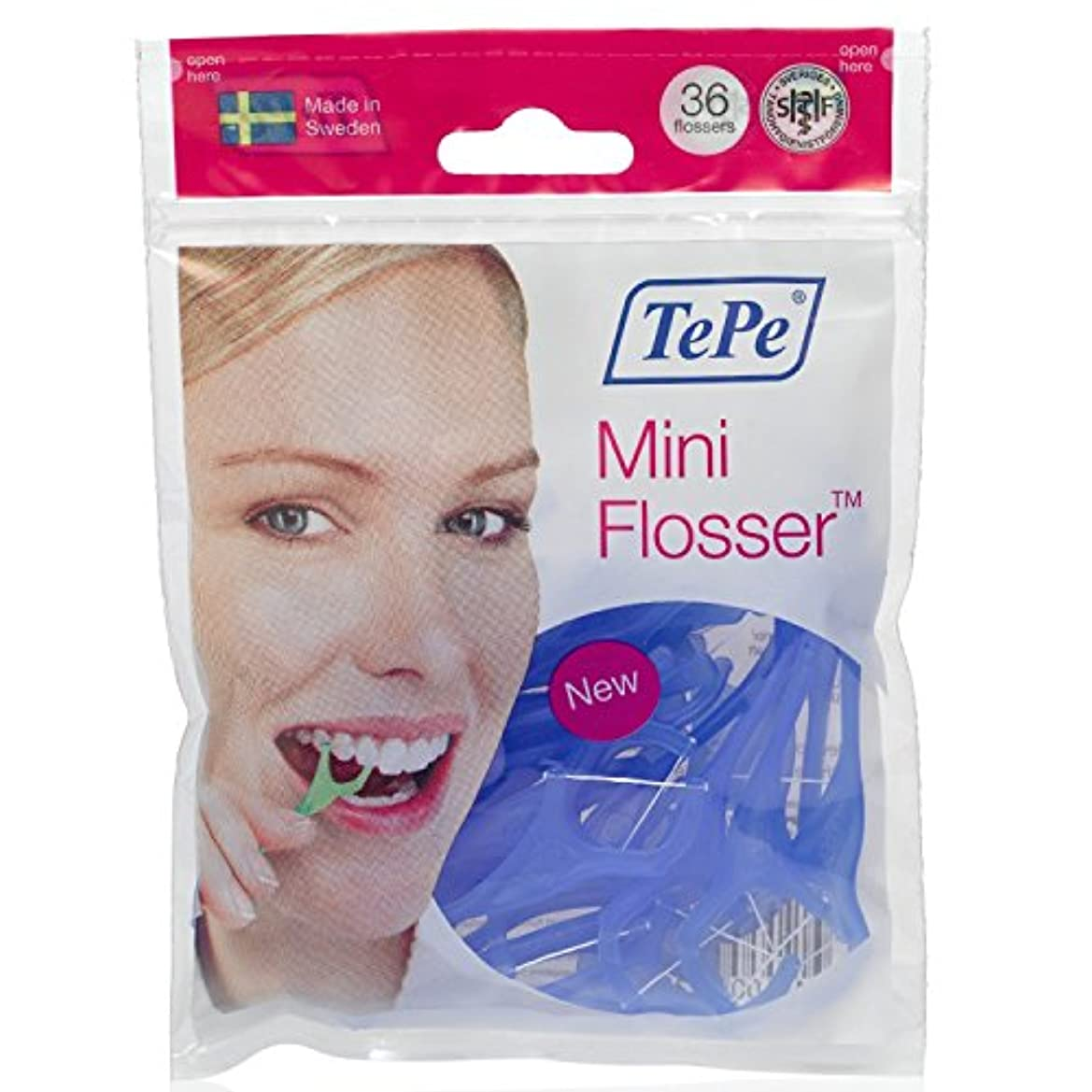 死ぬ請求書麻痺させる5Pack TePe Mini Flosser Dental Floss Holder 5x 36 pieces by TePe