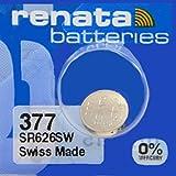 renata レナータ 377 (1個) 酸化銀ボタン電池(SR626SW)※スウォッチグループ/スイス製【正規国内代理店品】