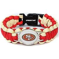 NFL San Francisco 49ersのパラコードブレスレットレディース&メンズ – パラコードサバイバルストラップブレスレット