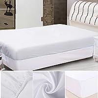 Librao ベッド用 ボックスシーツ マットレスカバー 抗菌防臭加工付き 敷き布団カバー?介護シーツ (1.8x2M, ホワイト)