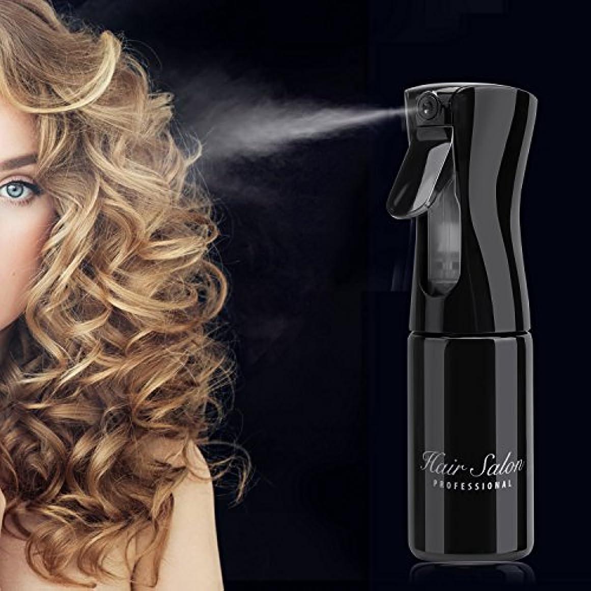 科学者影響を受けやすいです限りなく160ml ヘアスプレーボトル、美容師のための超微細連続ミストスプレーヤスタイリスト、エアレスエアロゾル水ミスターの泡植物のためのボトルミストメーカーペットホームクリーニング (ブラック)