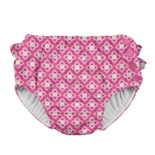 アイプレイ iplay オムツ機能付 水遊び用パンツ スイムダイパー スイミングパンツ 女の子 XL:24ヶ月 Hot Pink Diamond Flower