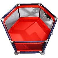 ベビーサークル, 安全プレイヤード赤ちゃんプレイペンターキッズアクティビティセンター屋内プレイフェンス赤ちゃんを這う幼児フェンス、赤+青