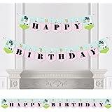 Bigドットの幸せの全体Llama Fun – ホオジロバナー – 誕生日パーティーデコレーション – Happy誕生日