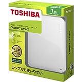 東芝 CANVIO BASICS ポータブルハードディスク 2.5インチUSB外付けHDD(1TB) HD-AC10TW ホワイト 家電 パソコン周辺機器 パソコンサプライ [並行輸入品]