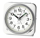 SEIKO CLOCK (セイコークロック) 目覚まし時計 電波 アナログ 切替式アラーム 白パール KR326W