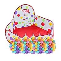 赤ちゃんPlaypen色ボール屋内玩具ハウスオーシャンボールプール家庭用折り畳みベビーフェンス子供用テント (色 : Playpen+500 balls)