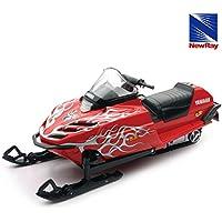 NewRay Honda 1/12 スケール スノーモービルラジコン Yamaha ヤマハ SRX 700 Snowmobile(Red) R/C レッド 赤