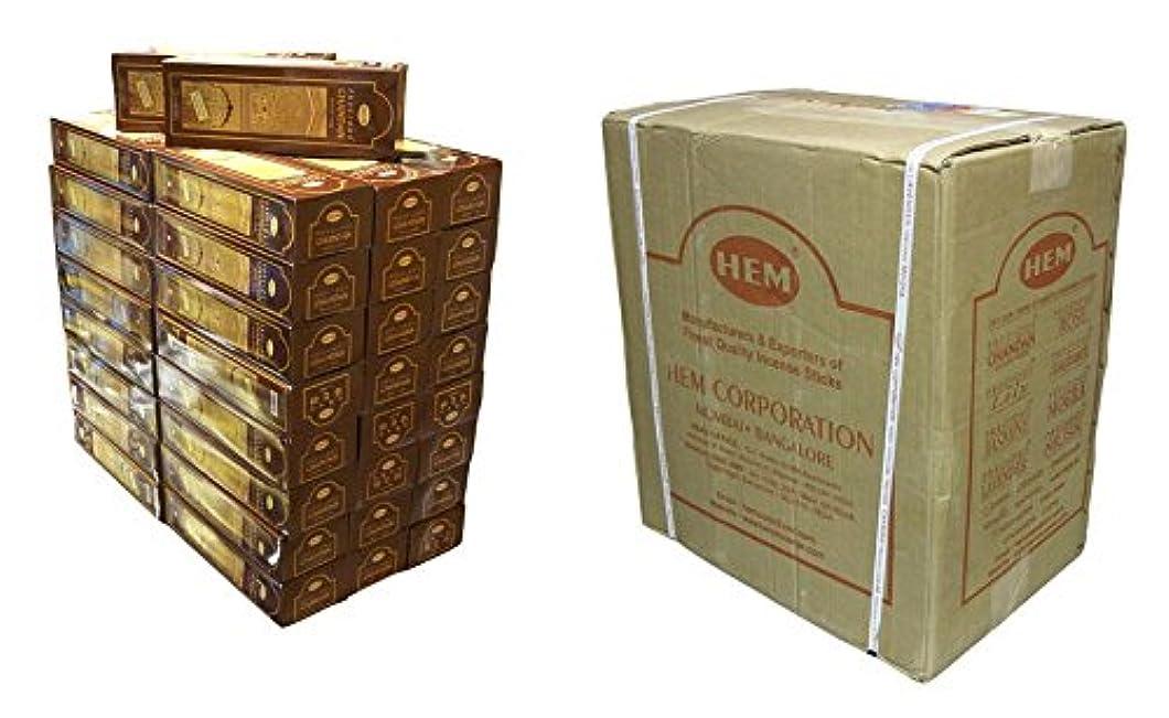テキスト杭振る舞いHEM(ヘム) チャンダン香 スティック CHANDAN 6角 300箱セット