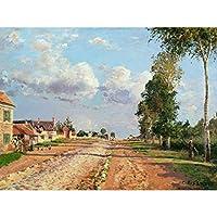 Pissarro Route De Versailles Rocquencourt Extra Large Wall Art Print Premium Canvas Mural 壁