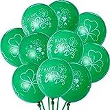 Zhanmai セントパトリックのバルーン 30個 グリーンシャムロックバルーン 聖パトリックの日のパーティー装飾 3スタイル