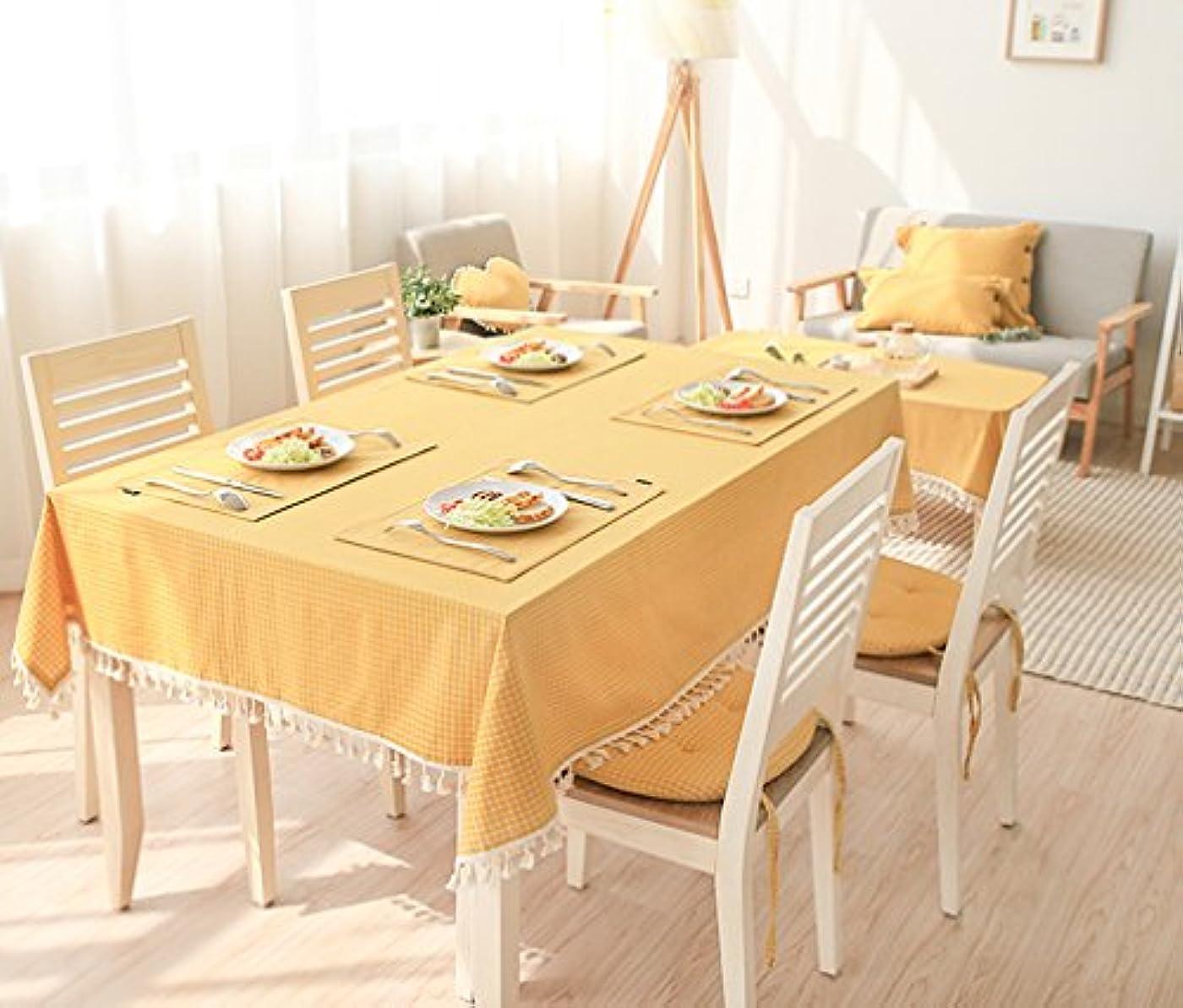 おばあさん顧問ウガンダIVEGLA テーブルクロス テーブルカバー 食卓カバー デスクマット 田園風 イエロー