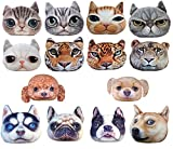 HIROANO 猫顔 犬顔 犬 猫 アニマル クッション 雑貨 グッズ ハンドタオル付きモデル