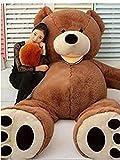 LOVESOUNDぬいぐるみ 特大 くま/テディベア アメリカCostCo 可愛い熊 動物 大きい/巨大 くまぬいぐるみ/熊縫い包み/クマ抱き枕/お祝い/ふわふわぬいぐるみ (200cm)