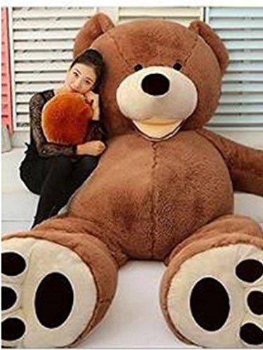 LOVESOUNDぬいぐるみ 特大 くま/テディベア アメリカCostCo 可愛い熊 動物 大きい/巨大 くまぬいぐるみ/熊縫い包み/クマ抱き枕/お祝い/ふわふわぬいぐるみ (160cm)