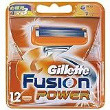 ジレット 髭剃り フュージョン 5+1 パワー 替刃12個入