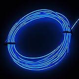 lychee EL Wire ネオンワイヤー 有機EL 5M 車装飾イルミネーションライト 3種類の点滅モード (Blue)