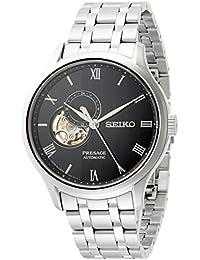 [プレザージュ]PRESAGE 腕時計PRESAGE 型打ち黒文字盤 セミスケルトン デュアルカーブサファイアガラス SARY093 メンズ