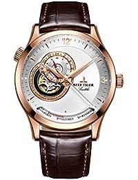 Reef Tiger 高級時計 メンズ腕時計 ピンクゴールド 自動時計 RGA1693