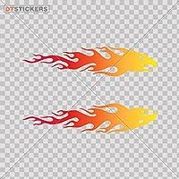炎のイーグルビニールステッカーデカールレッドオレンジイエローモーターレース車ATV車ガレージバイクDangerous Resting Vacationsライトse279 3 In. DTV022790300