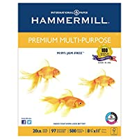 Hammermill 高級多目的用紙 レーザーインクジェットプリンタ、Fax、コピー用紙、81/2インチ x 11インチ レターサイズ、20ポンド、合計500シート