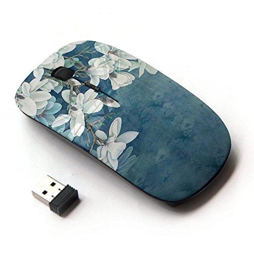KOOLmouse [ ワイヤレスマウス 2.4Ghz 無線光学式マウス ] [ White Blue Sky Blossom Flower Red Branch ] KOOLmouse