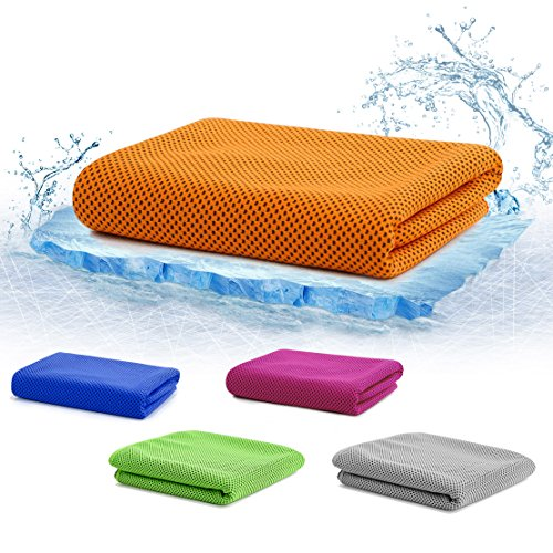 クールタオル 冷感タオル スポーツタオル 運動タオル 瞬冷 冷感繊維製 超強吸汗 速乾 猛暑の対策に 紫外線対策 軽量 カラフル 2枚セット