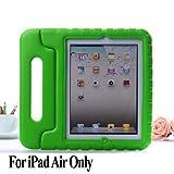 MYCARRYINGCASE幼児ArmorBoxキックスタンドカバーケース iPad Air 緑色